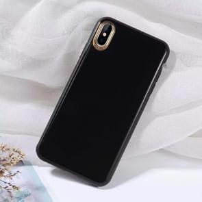 SULADA effen kleur galvaniseren TPU Case voor iPhone XS (zwart)