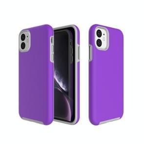 Anti-slip Armor Texture TPU + PC Case for iPhone 11(Purple)