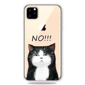 Patroon afdrukken zachte TPU mobiele telefoon Cover Case voor iPhone XI Max 2019 (geen kat)