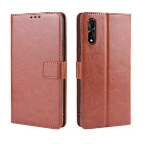 Retro Crazy Horse Texture Horizontal Flip Leather Case for vivo iQOO Neo / S1 / Y7S / Z5  , with Holder & Card Slots & Photo Frame(Brown)