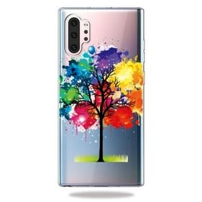 Pattern Printing Soft TPU Cell Phone Cover Case For Galaxy Note10+(Painting Tree)