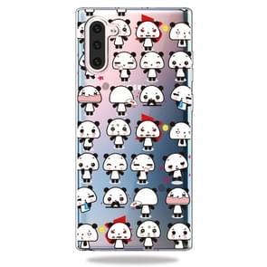 Patroon afdrukken zachte TPU mobiele telefoon Cover Case voor Galaxy Note10 (Mini Panda)