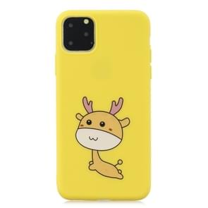 Frosted Pattern TPU Protective Case for iPhone 11 Pro Max(Fawn)