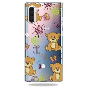 Patroon afdrukken zachte TPU mobiele telefoon Cover Case voor Galaxy Note10 (kleine bruine beer)