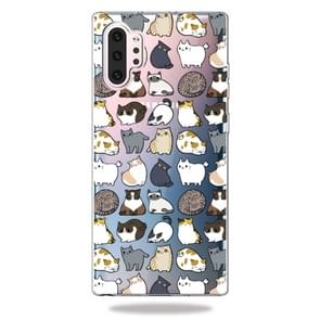 3D Pattern Printing Soft TPU Cell Phone Cover Case For Galaxy Note10+(Minicat)