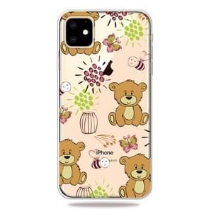 3D patroon afdrukken zachte TPU mobiele telefoon Cover Case voor iPhone XI Max 2019 (kleine bruine beer)