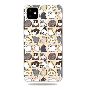 3D Pattern Printing Soft TPU Cell Phone Cover Case For iPhone 11 Pro(Minicat)