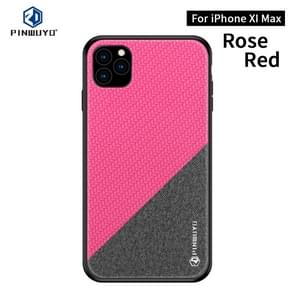 PINWUYO Honors Series Shockproof PC + TPU Protective Case for iPhone 11 Pro Max(Red)