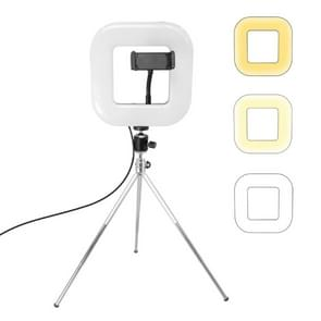 XWJ-D21C Dimmable LED Square Light With Tripod Net Red Live Fill Light Phone Holder