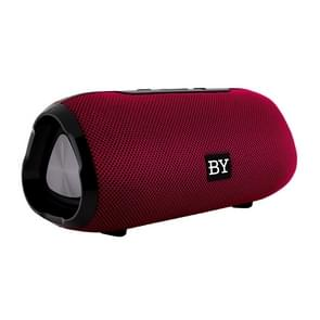 BY Portable Bluetooth Speaker Waterproof Wireless Loudspeaker 3D Stereo Music Surround Sound System Outdoor Speakers Support TF AUX(Red)