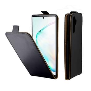 Business Style Vertical Flip TPU Leather Case With Card Slot For Galaxy Note10+(Black)