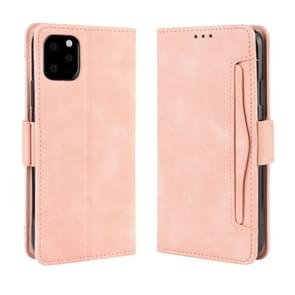 Wallet Style Skin Feel Calf Pattern Leather Case For iPhone 11 ,with Separate Card Slot(Pink)