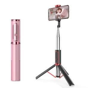 M18 draagbare Selfie stick afstandsbediening mobiele telefoon houder (roze)