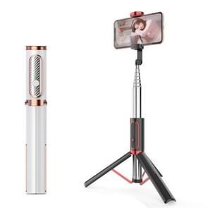 M18 draagbare Selfie stick afstandsbediening mobiele telefoon houder (wit)