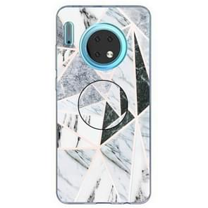 3D Marble Soft Silicone TPU Case Cover Bracket  For Huawei Mate 30(Polytriangle)