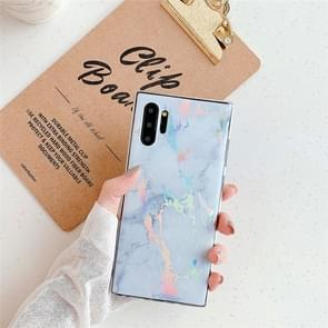TPU Glossy Laser Marble IMD Colorful TPU Case for Galaxy Note10+(White)