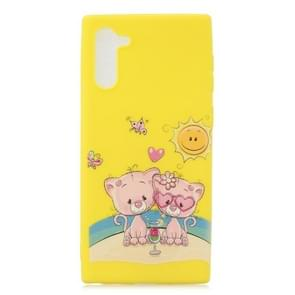 Frosted Pattern TPU Protective Case for Galaxy Note 10(Lovers Bear)