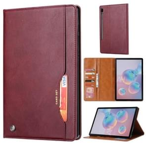 For Galaxy Tab S6 / T860 /T865 Knead Skin Texture Horizontal Flip Leather Case with Photo Frame & Holder & Card Slots & Wallet(Wine Red)