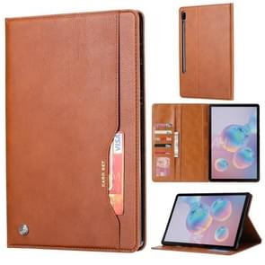 For Galaxy Tab S6 / T860 /T865 Knead Skin Texture Horizontal Flip Leather Case with Photo Frame & Holder & Card Slots & Wallet(Brown)