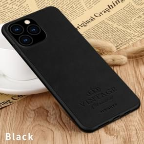 PINWUYO Pin Rui Series Classical Leather, PC + TPU + PU Leather Waterproof And Anti-fall All-inclusive Protective Shell for iPhone 11 Pro Max(Black)