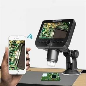 Handheld Digital Microscope 1000 Times Medical Electronic Magnifying Glass WiFi With Screen Integrated Microscope (Black)