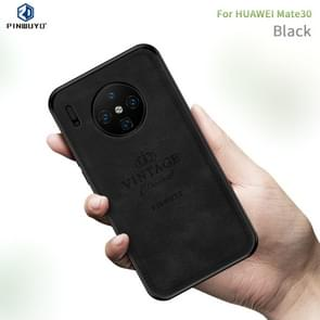 For Huawei Mate 30 PINWUYO Shockproof Waterproof Full Coverage PC + TPU + Skin Protective Case(Black)