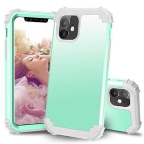 For iPhone 11  PC+ Silicone Three-piece Anti-drop Mobile Phone Protection Bback Cover(Green)