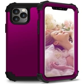 For iPhone 11 Pro Max PC+ Silicone Three-piece Anti-drop Mobile Phone Protection Bback Cover(Drak purple)