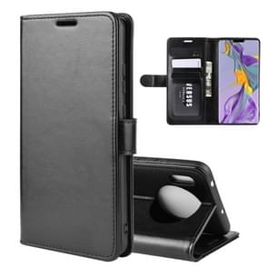For Huawei Mate 30 R64 Texture Single Fold Horizontal Flip Leather Case with Holder & Card Slots & Wallet(Black)