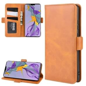 For Huawei Mate 30 Wallet Stand Leather Cell Phone Case with Wallet & Holder & Card Slots(Yellow)