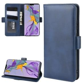 For Huawei Mate 30 Wallet Stand Leather Cell Phone Case with Wallet & Holder & Card Slots(Dark Blue)