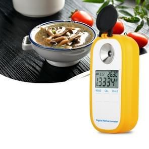 DR201 digitale zout refractometer zoutgehalte soortelijk gewicht meter 0 ~ 28% refractometer Food Salt content tester natrium chloride NaCl