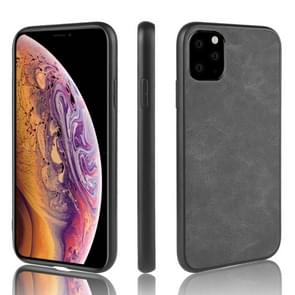 For iPhone 11 Pro Max Shockproof Sheep Skin PC + PU + TPU Case(Light black)