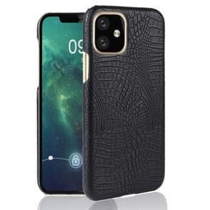 Voor iPhone 11 schokbestendige krokodil textuur PC + PU case (zwart)