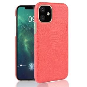 Voor iPhone 11 schokbestendige krokodil textuur PC + PU geval (rood)
