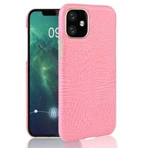Voor iPhone 11 schokbestendige krokodil textuur PC + PU geval (roze)