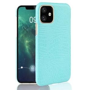 Voor iPhone 11 schokbestendige krokodil textuur PC + PU geval (licht groen)