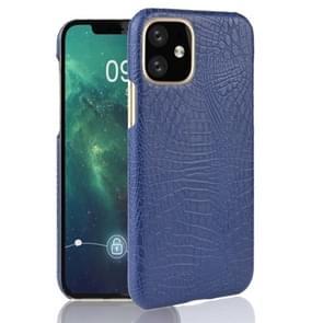 Voor iPhone 11 schokbestendige krokodil textuur PC + PU geval (blauw)