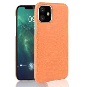Voor iPhone 11 schokbestendige krokodil textuur PC + PU geval (oranje)