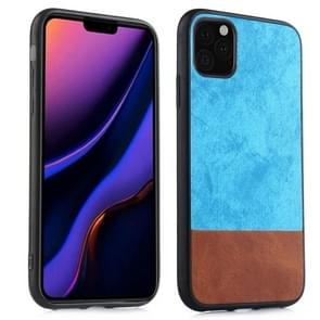 For iPhone 11 Pro Max Shockproof Color Matching Denim PC + PU + TPU Protective Case(Blue)