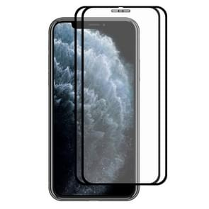 For iPhone 11 Pro / XS / X 2PCS ENKAY Hat-prince Full Glue 0.26mm 9H 2.5D Tempered Glass Full Coverage Film