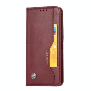 For Huawei Mate 30 Knead Skin Texture Horizontal Flip Leather Case with Photo Frame & Holder & Card Slots & Wallet(Wine Red)