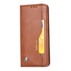 Voor Huawei mate 30 Knead huidtextuur horizontale Flip lederen draagtas met foto frame & houder & kaartsleuven & portemonnee (bruin)