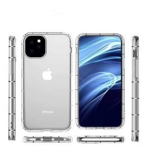 Voor iPhone 11 Pro Max vier-zijde luchtdruk drop-proof dikke transparante TPU telefoon geval (transparant)