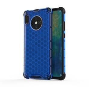 For Huawei Mate 30 Shockproof Honeycomb PC + TPU Case(Blue)
