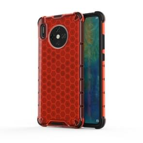 For Huawei Mate 30 Shockproof Honeycomb PC + TPU Case(Red)