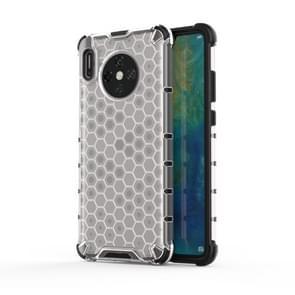 Voor Huawei mate 30 schokbestendige honingraat PC + TPU case (wit)