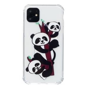 For iPhone 11 Anti-Drop Pattern TPU Phone Case(Three Pandas)