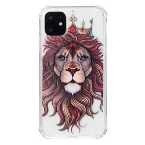 For iPhone 11 Anti-Drop Pattern TPU Phone Case(Lion)