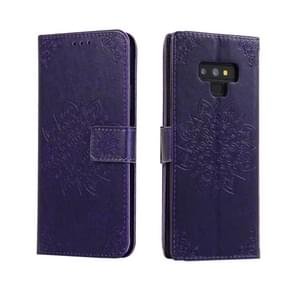 For Galaxy Note 9 Embossed Kaleidoscope Flower Horizontal Flip Leather Case with Holder & Card Slots & Wallet(Purple)